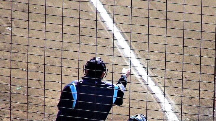 【野球のルール】正しいハーフスイングのリクエストのやり方!高校野球ではどの審判にどうやってアピールするのが正解?